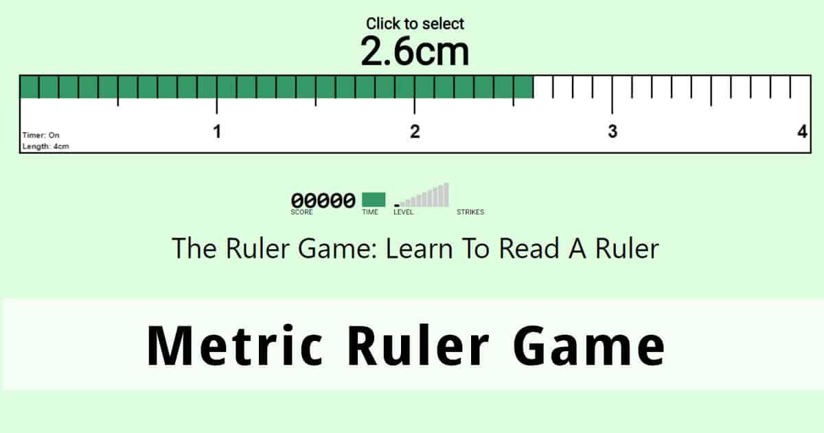 New Metric Ruler Game Learn To Read A Metric Ruler